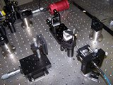 Sestava s Michelsonovým interferometrem