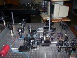 Sestava s Machovým-Zehnderovým interferometrem